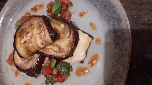 Aubergines-Stuffed-with-Goats cheese at Cloughan Farm & Cookery School